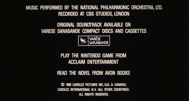 Total Recall End Credits Font Font Id